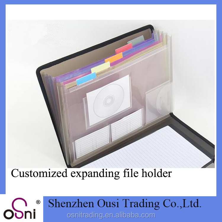 Osni folder bag paper file cover PVC page holder expanding box file
