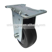 Rigid 3.5 inch small fixed caster wheel rhombic plate type castor low profile casters and wheels
