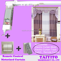 TAIYITO ZIGBEE smart home automation remote control electric curtain/electric curtian track/electric curtain rod