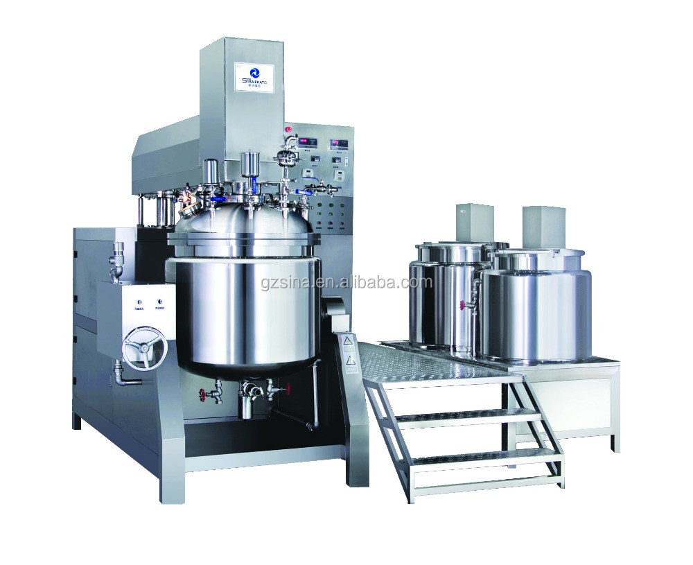 SME 5L-2000L China manufacturer facial cream mixer/ facial lotion vacuum machine/ facial cleanser making emulsifying mixer