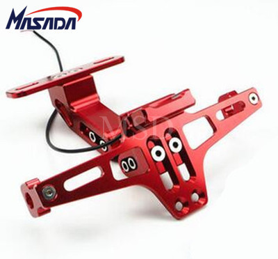 Universal Motorcycle Parts motorbike Adjustable Angle Aluminum License Number Plate Frame Holder Bracket For Honda Yamaha