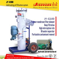 JY-G100 Low operating cost hydraulic oil cleaning machine for wind power