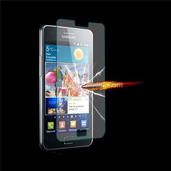 new products 2.5 Degree 0.3MM screen protector for Samsung Galaxy S2 I9100,tempered glass for samsung