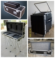26-5/8w x 18-1/8d x 40-5/8h flight case with 6 drawers and ball bearing slides