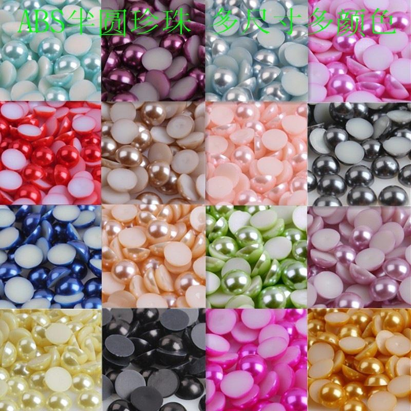 ABS semi - clinker imitation pearl mobile phonebeauty pearl Nail beads