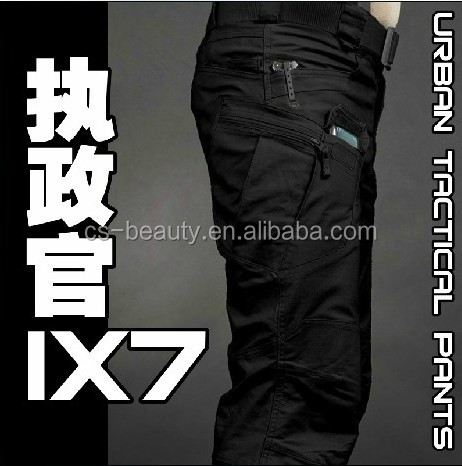 High Quality Pants Military Ripstop Combat Long Trousers Pants Black Color