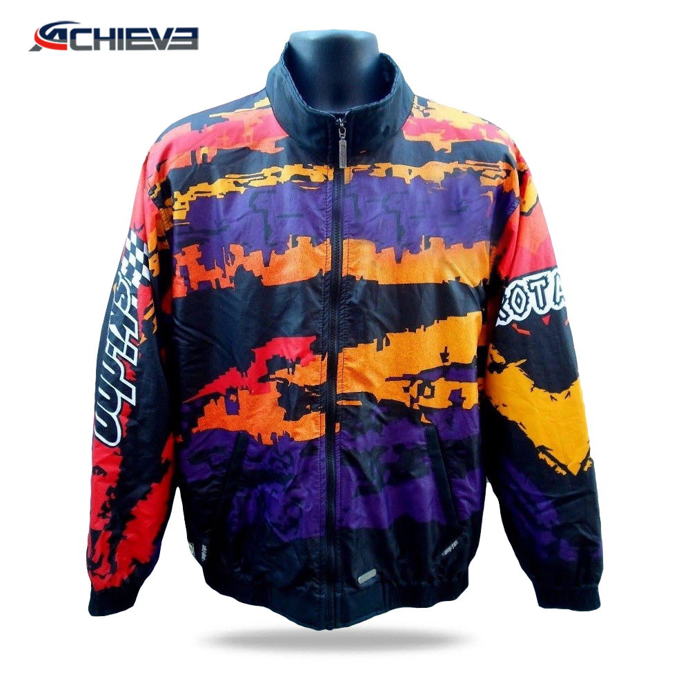 Sublimation custom cheap wholesale casual motorbike racing wear,polyester motorbike jacket