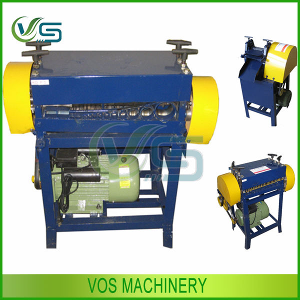China heavy duty scrap cable wire stripping machine/stripper/copper recycling machine