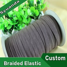 Custom Flat Braided Elastic Band for Notebook