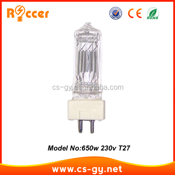 High Quality Theatre Lamp GE 650 W GY9.5 T27 tungsten halogen lamp bulb
