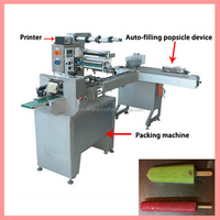 Automatic ice lolly pillow packing machine
