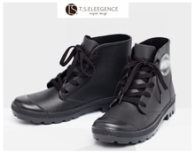 Men custom logo rain shoes boots men clear pvc rain boots pvc injected overshoes