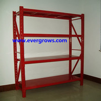 Metal shelving with wheels
