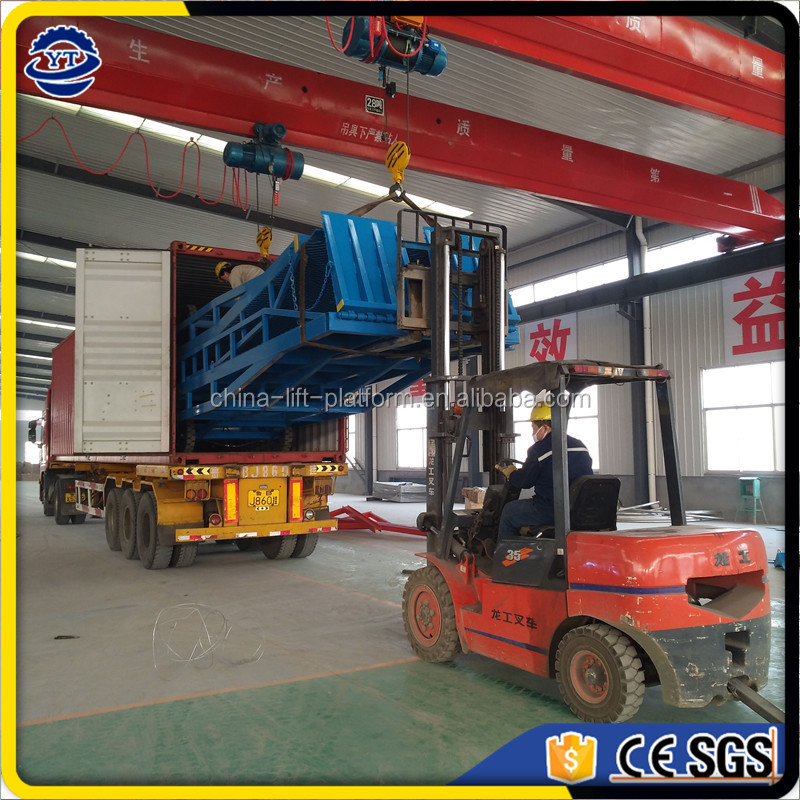10T used container loading ramp unloading deck for forklift price