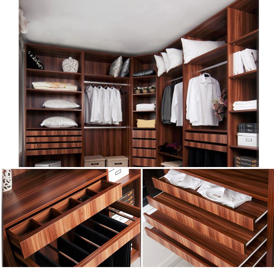 Simple Cheap Luxurious Wooden Closet Wardrobe