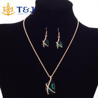 jewelry sets bridal 18k gold plated wedding necklace earing blue crystal set jewellery sieraden sieraden juwelen women perhiasan