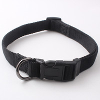 Custom Logo strong Nylon Metal Buckle Dog pet Collar With Reflective Stitching