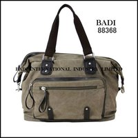 badi guangzhou canvas pu leather nylon bag handbag factory hand bag factory wholesaler