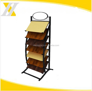 special classic fashion single-sided ceramic tile metal rack display, floor tiles display shelf,showroom stand