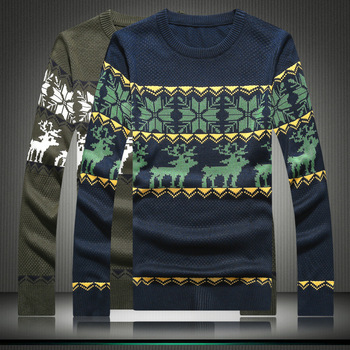 MS70967G Fancy design men printed Christmas sweaters