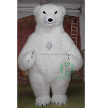 HI 3m Height snow white inflatable polar bear costume adult super soft plush animal costume