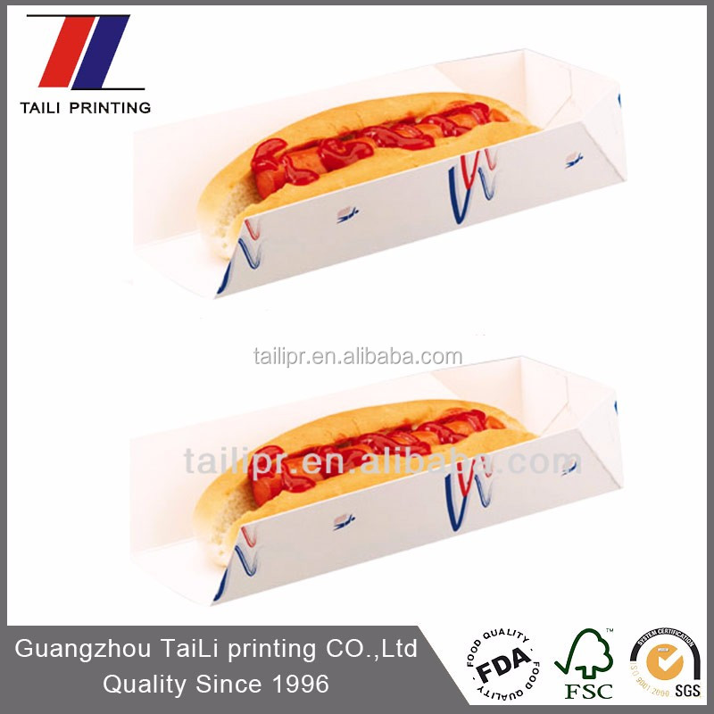 Wholesale Custom Printed Paper Food Tray For Hotdog