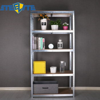 5 Tiers Galvanized Metal Shelf Home Warehouse Use Storage Shelf