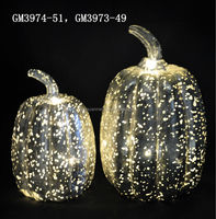 Halloween gift glass led pumpkin light