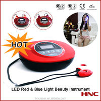 Home use photodynamic led red light and blue light therapy instrument for skin beauty