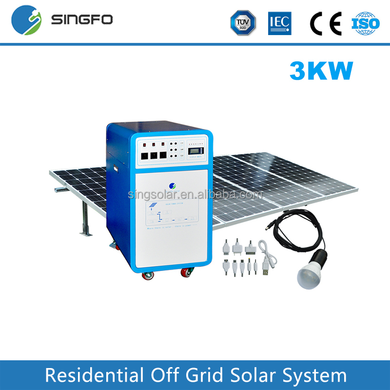 Customizable any power On Grid-tied and Off Grid solar power system 1KW 2KW 3KW PV Module