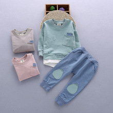 2017 New Autumn Kids Suit of Long sleeve two pieces baby boys' cotton sets wholesale