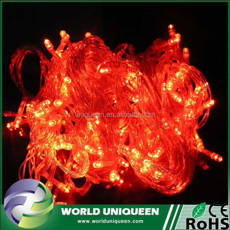 Online Shopping Diwali Lights 100 LED Bulbs Red Short String Christmas Lights With Controller