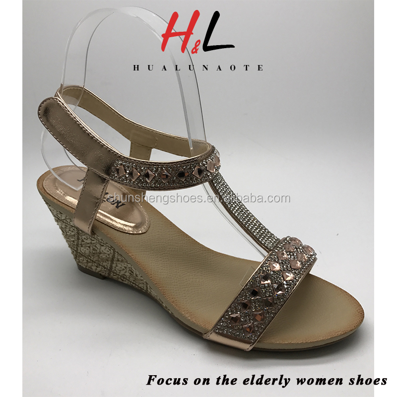 high quality china wholesale latest ladies fancy wedge sandals