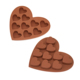 10 Cavity Heart Shaped Non-Stick Baking Mold Food Grade Silicone Cake Mould