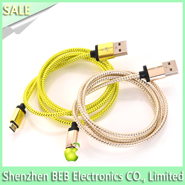 2015 new fashion high-end mfi certified 1.0m real black leather usb cable for iphone 6