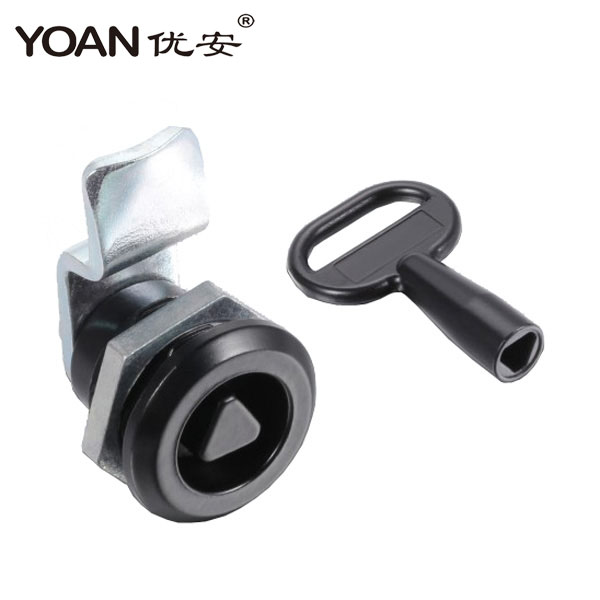 hot new product cam lock with tubular triangular key for cabinet