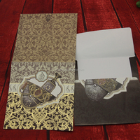 Professional manufacture love theme arabic/muslim/yemen design wedding invitation card with colorful envelopes