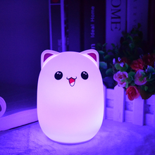 Bedside Multicolor Changing Programmable Rechargeable Usb Charging Touch Control Gift Nursery Lamp Kids Silicone Led Night Light