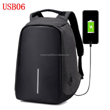 Usb Power bank Canvas anti-theft military shoulder backpack bag