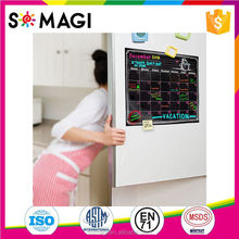 Customzied Printing Magnet Calendar Whiteboard refrigerator magnet calendar 12*16inch with markers and wipe cloth magnetic board