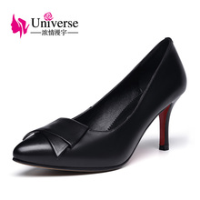 E022 Handmade Leather Pumps Plus Size Ladies Dress Shoes Women Office Shoes