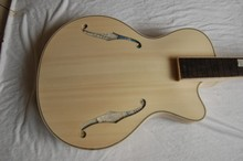 unfinish guitar handmade solid wood hollow body archtop guitar