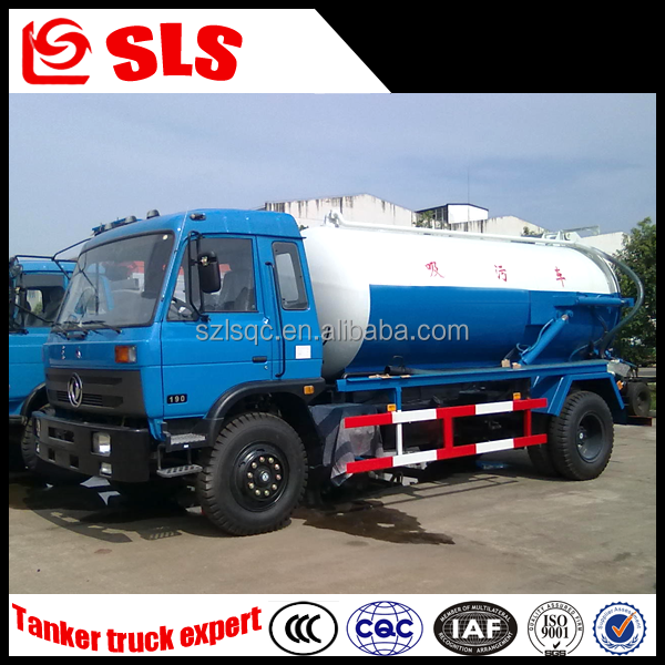 Dongfeng Sewage suction tanker truck/vacuum sewer cleaner