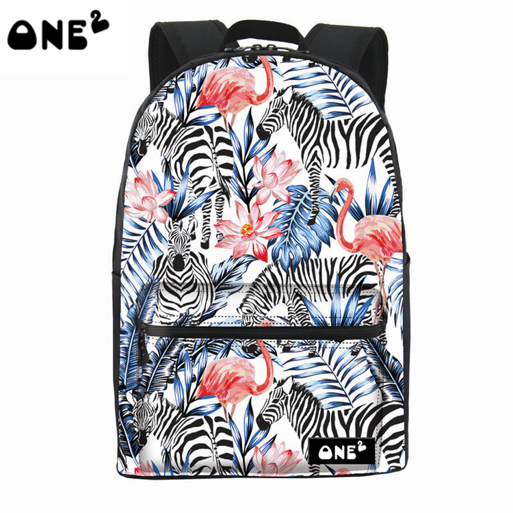 One2 new design decorative pattern cheap brand lady <strong>backpack</strong>