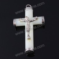 wholesale plastic hanging luminous crucifix cross