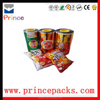 Candy packing bags aluminum foil laminated roll film for food plastic food bag