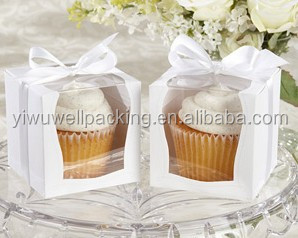 Top selling paper cupcake box ,single cupcake box ,popular cake pu with alibaba