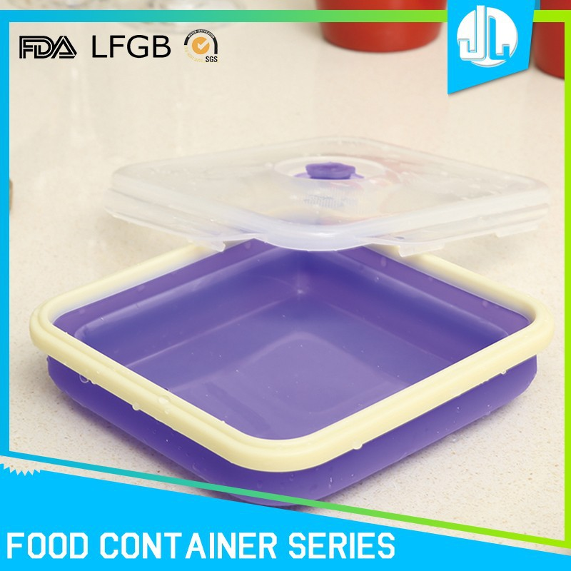 Collapsible folding FDA/FLGB grade home silicone bowl containers