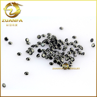 Hot sale loose cubic zirconia gemstone synthetic black diamond in bangkok