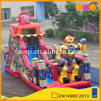 2017 New kids play indoor inflatable game toy inflatlable robot amusement park game made in China